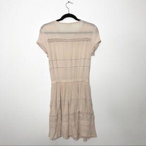 Aritzia Dresses - Aritzia Talula Light Pink Button Front Cinch Dress
